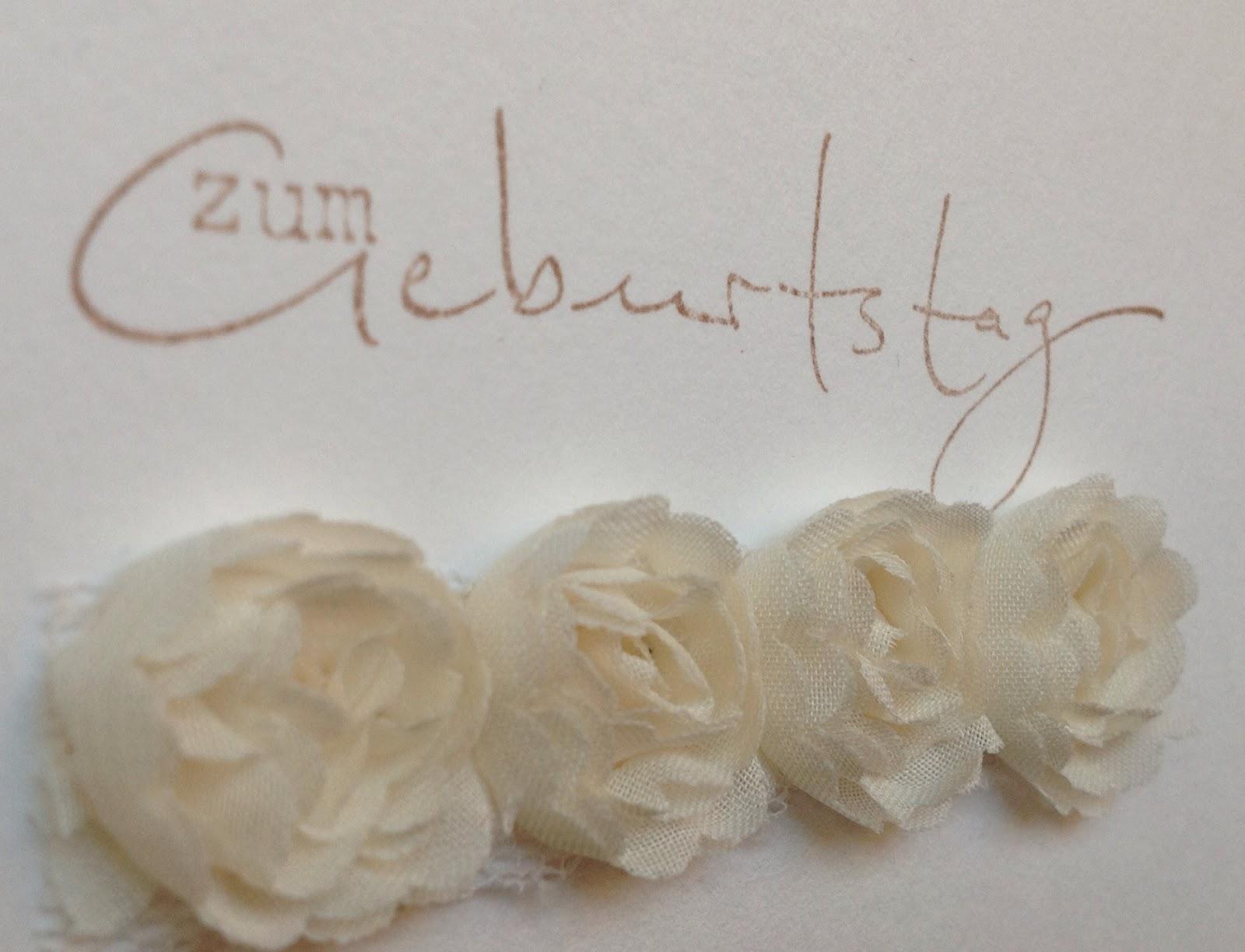 """Stempel """"Zum Geburtstag"""" von der Alexandra Renke Manufaktur"""