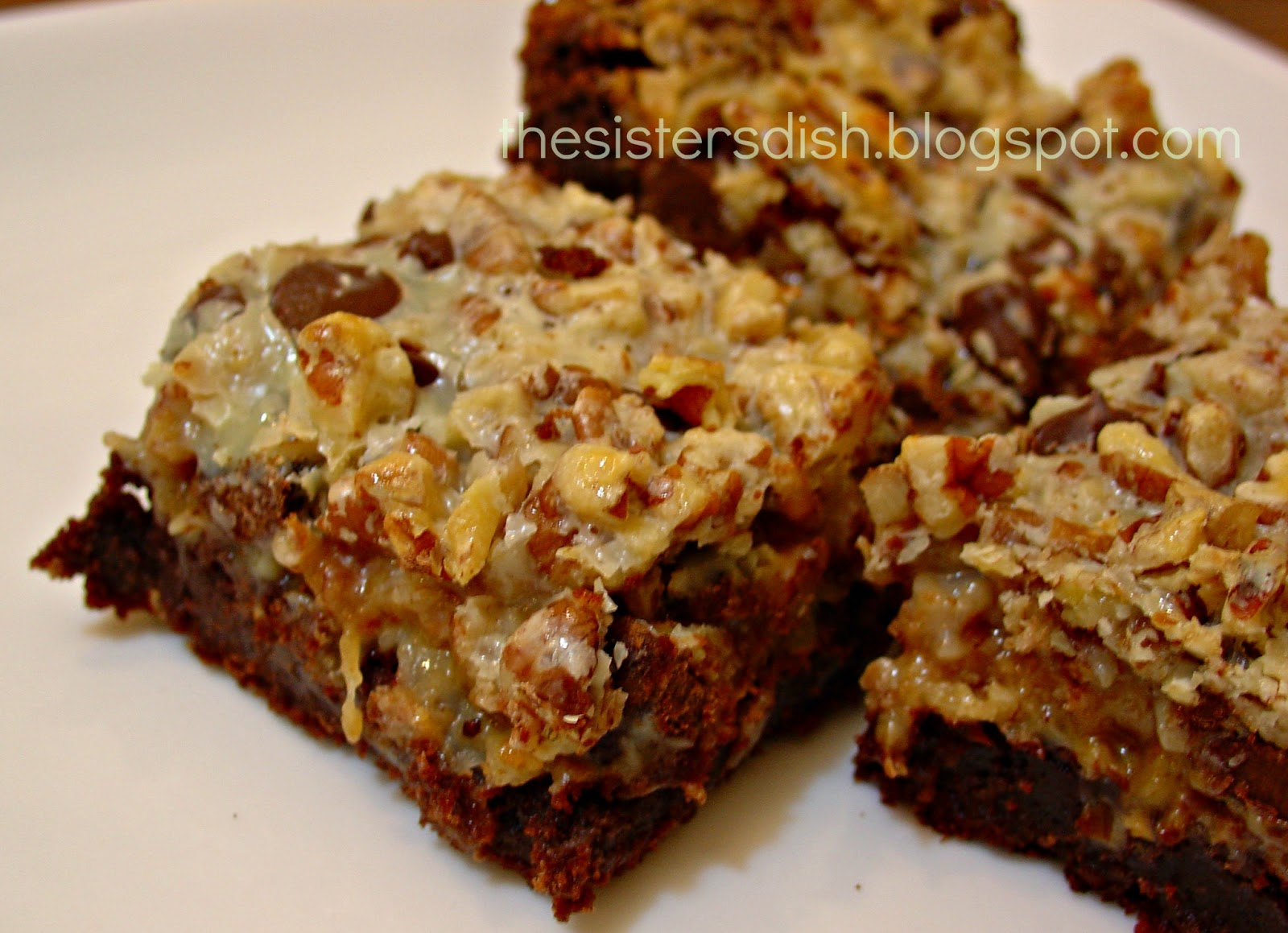 The Sisters Dish: Six-Layer Brownie Bars