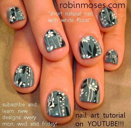"""robin moses nail art """"short nail art"""" """"colorful flower"""