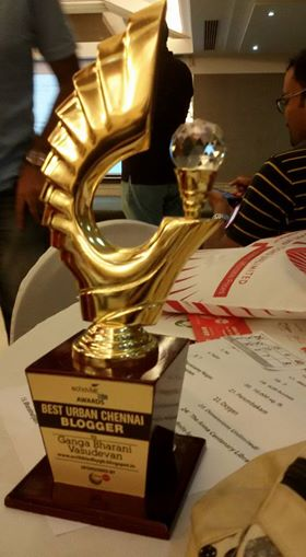 Best Urban Chennai Blogger Award