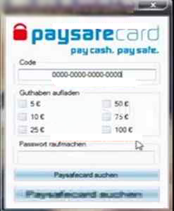 Code paysafecard fake Paysafecard Promo