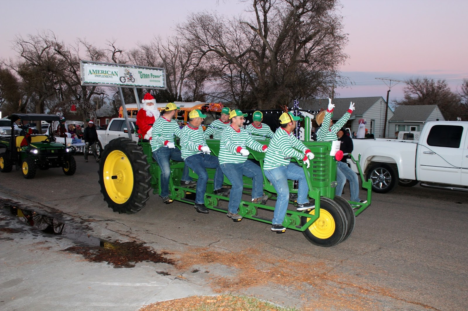 John Deere Model B Pedal Tractor It Was A Hit We Didnt Want To Put Lights On The Machine And Opted Place More