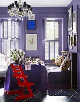Дизайн интерьера маленькой квартиры в сиреневом цвете