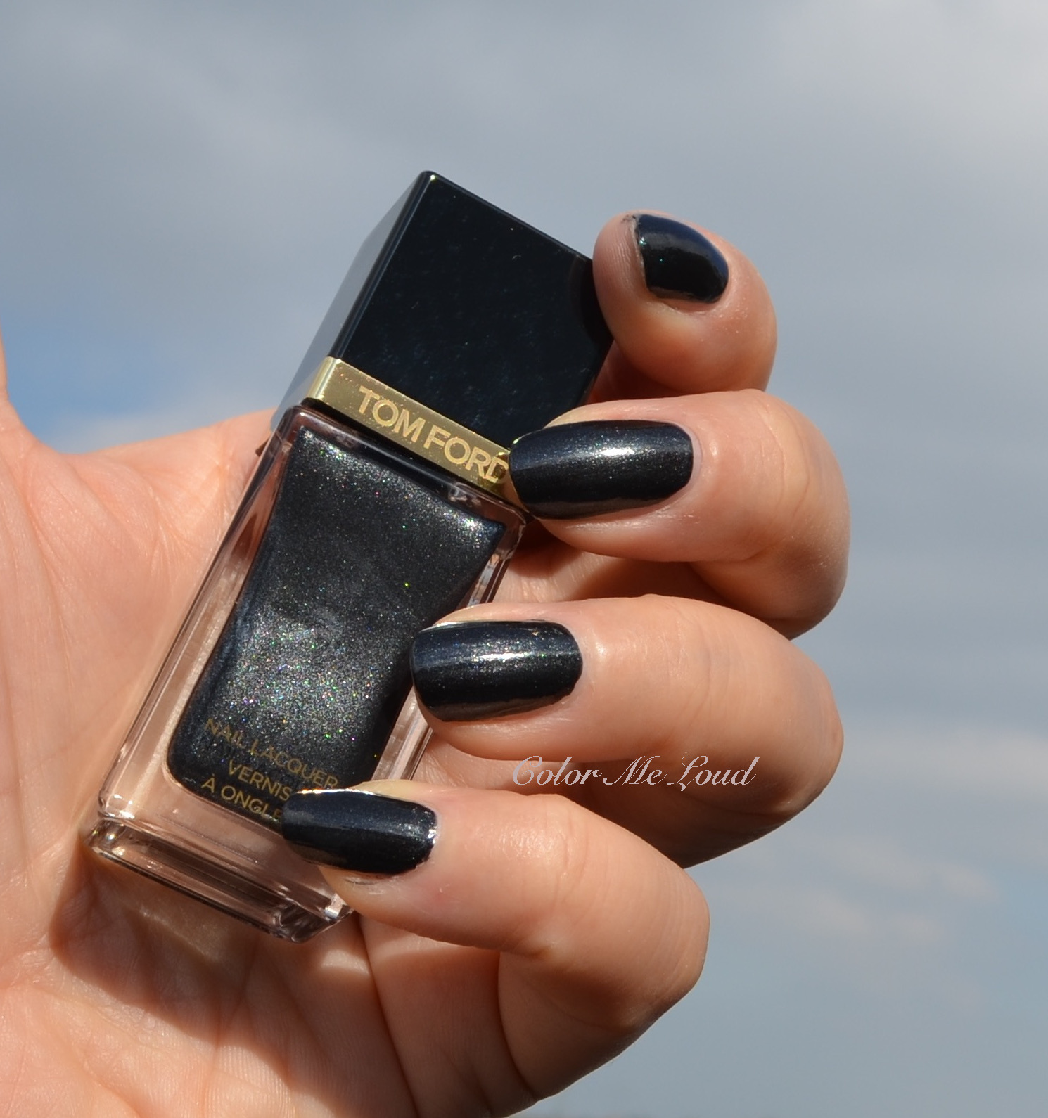 Black Nail Polish Swatch: Tom Ford Nail Lacquer Black Out For Holiday 2015 Noir