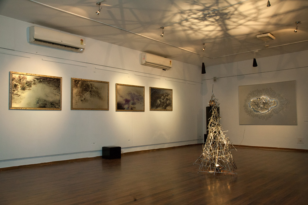 'Disappearing Dialogues' Solo show at Gallery Sanskriti, 2015
