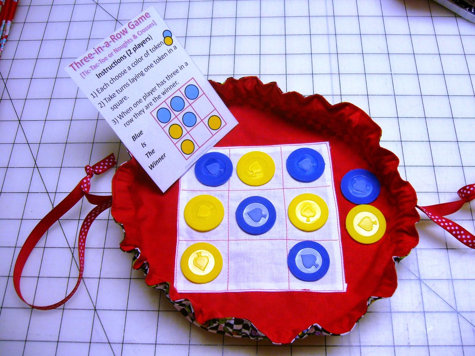 DIY Traveling Tic Tac Toe Game & Bag Instructions
