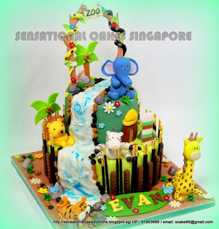 The Sensational Cakes JUNGLE ANIMAL CAKE SINGAPORE ANIMAL ZOO