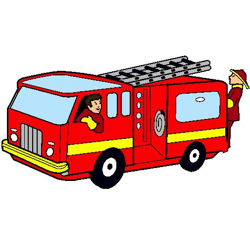 Dibujo de bombero a color - Imagui