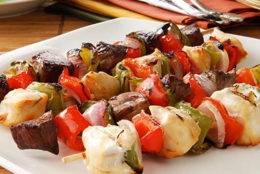 طريقة عمل شيش كباب الخضروات