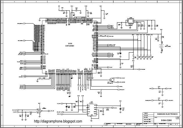 samsung sgh-c200 schematic diagram