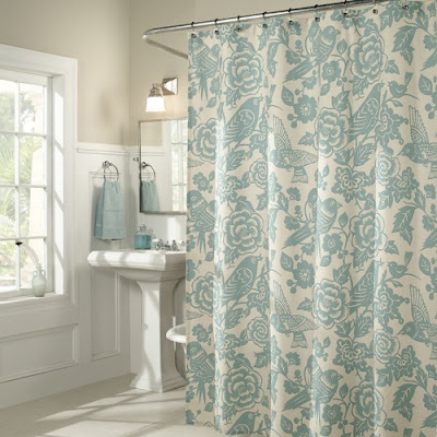 M Style Birds Of A Feather Shower Curtain In Blue
