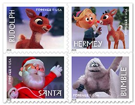 Amazon: 2014 'Forever' Christmas Stamps