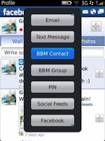 Facebook for BlackBerry update 2.0 : BBM Integration, Likes Notifications, more