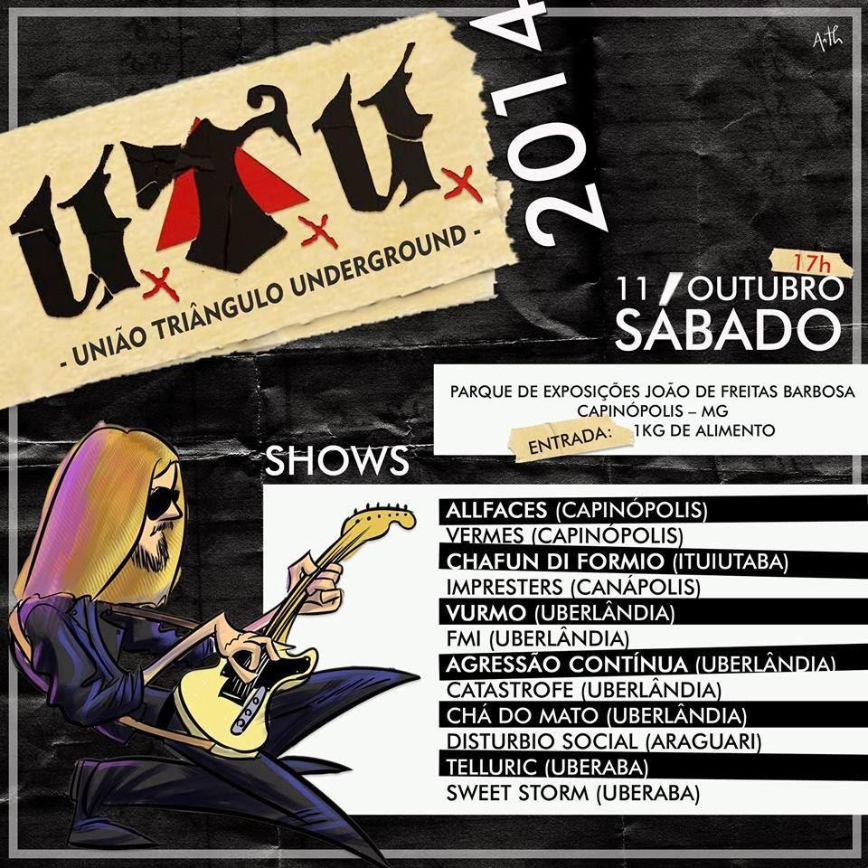 Flyer do Festival UTU (União Triângulo Underground)