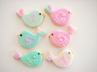 Bird Cookies, Any Color, Favors for Bird Theme Birthday Party, Bird Theme Baby Shower, Birdie Theme - Made to Order decorated sugar cookies