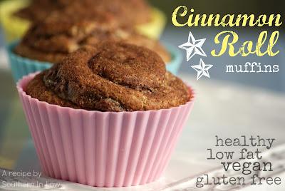 Healthy Gluten Free Cinnamon Roll Muffins