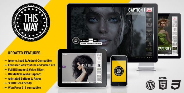 This Way photography and video WordPress Theme Free Download by ThemeForest.