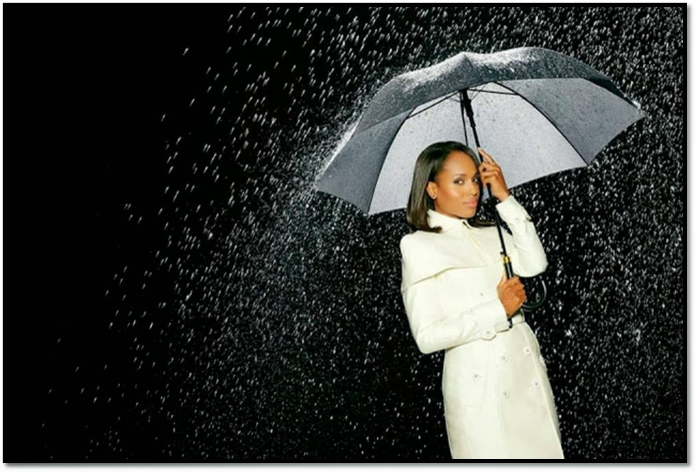 Olivia Pope looks ootd Kerry Washington série Scandal trench Blanc Burberry Prorsum