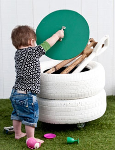 Used Yard Toys : Ideas how to use old tires part