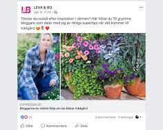 10 bloggar du måste följa om du älskar trädgård enligt Expressen LEVA & BO