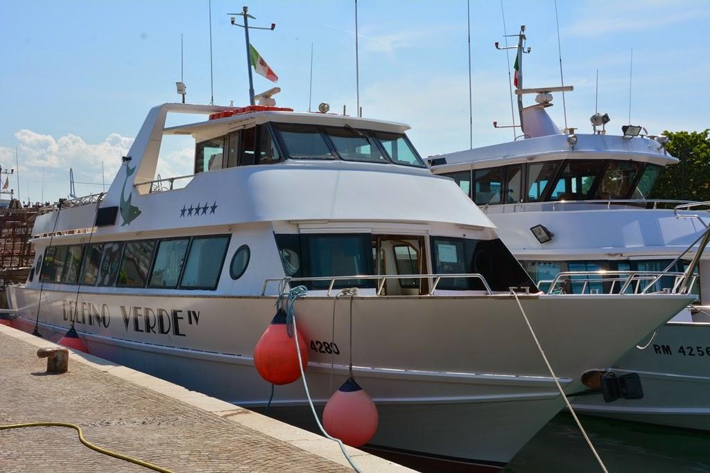 Fisher's port Rimini tourist boat