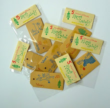 stamped gift tags for sale