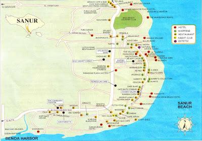 Peta Wisata Sanur Bali