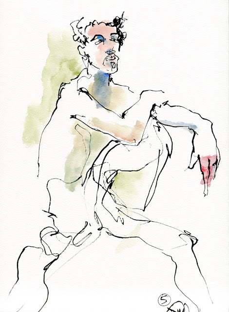 life drawing sketch by David Meldrum