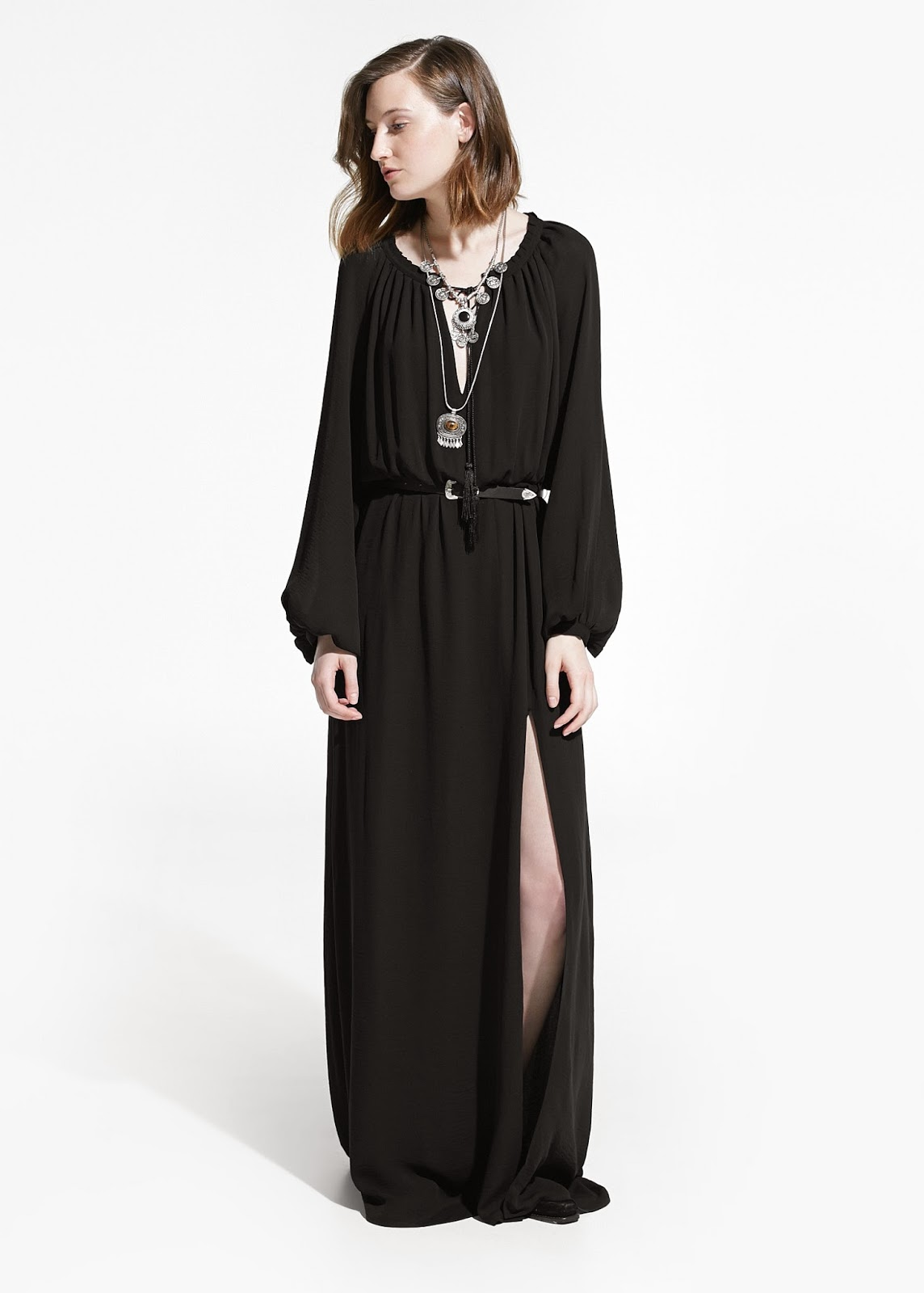 mango black maxi dress