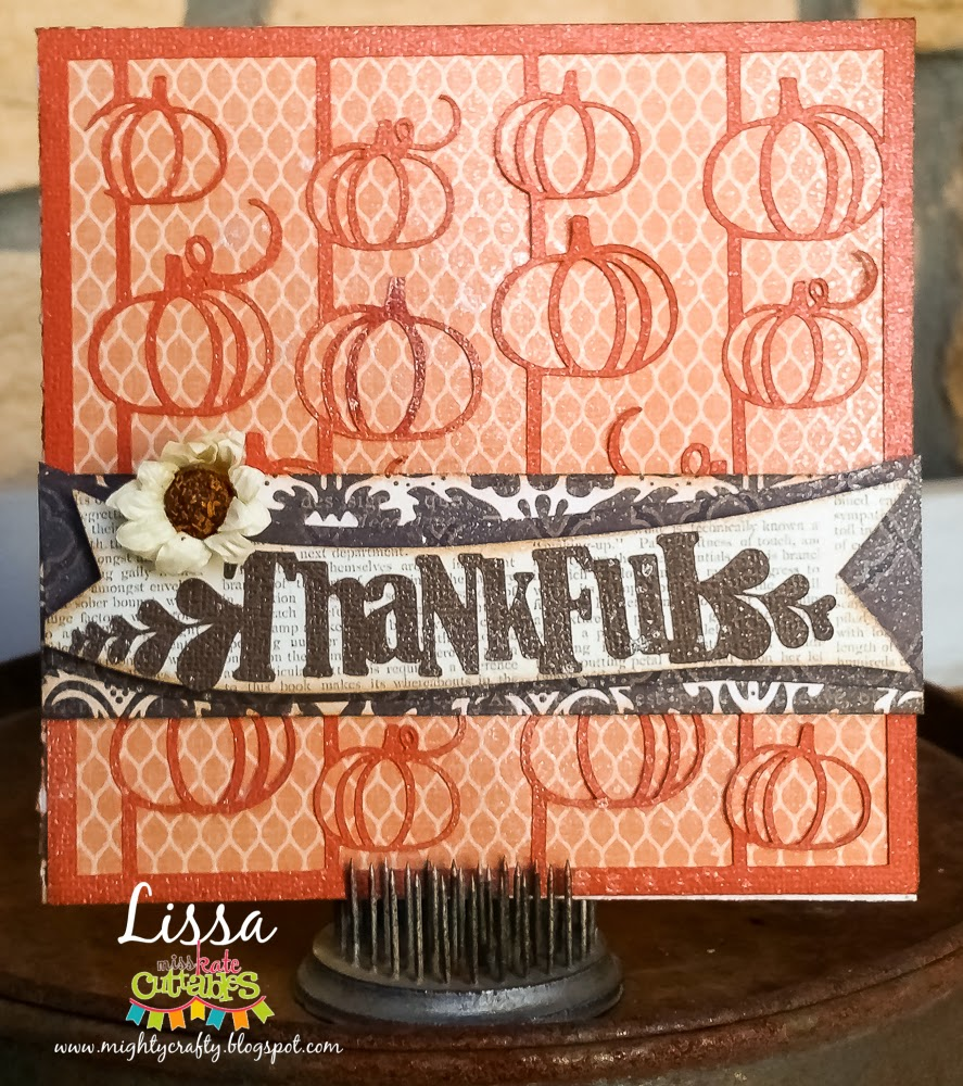 Thankful Card by Lissa for Miss Kate Cuttables