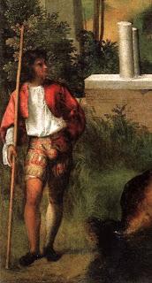 Giorgione, Das Gewitter, ca. 1508, Öl auf Leinwand, 82 cm × 73 cm, Accademia (Venedig)
