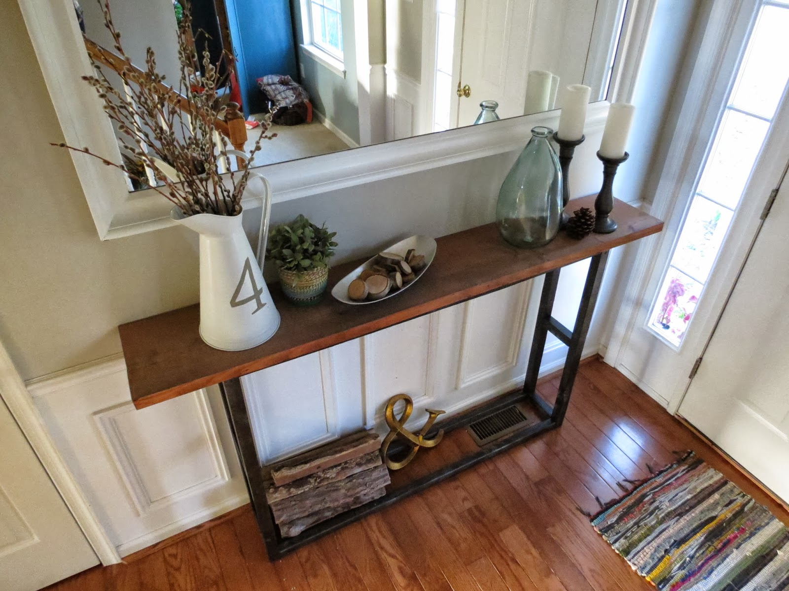 diy console table pottery barn knock off east coast. Black Bedroom Furniture Sets. Home Design Ideas