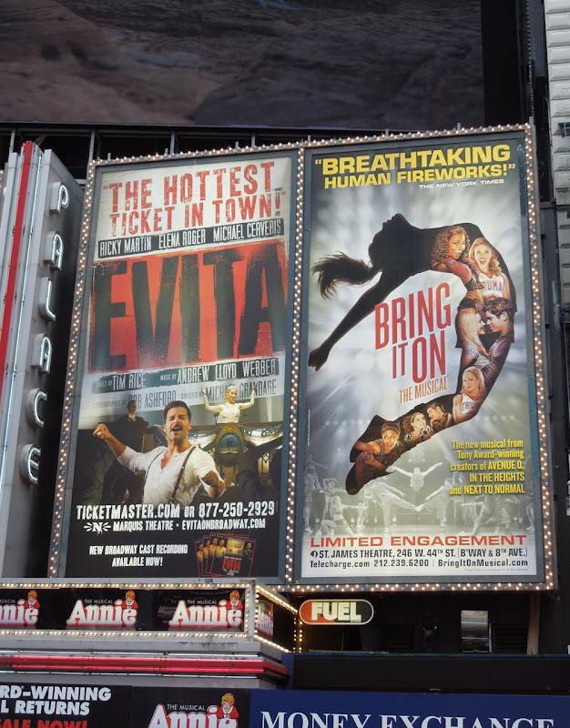 Evita billboard Times Square NYC