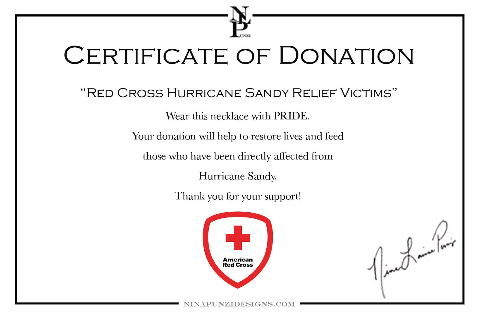Certificate Of Donation In Honor Pictures