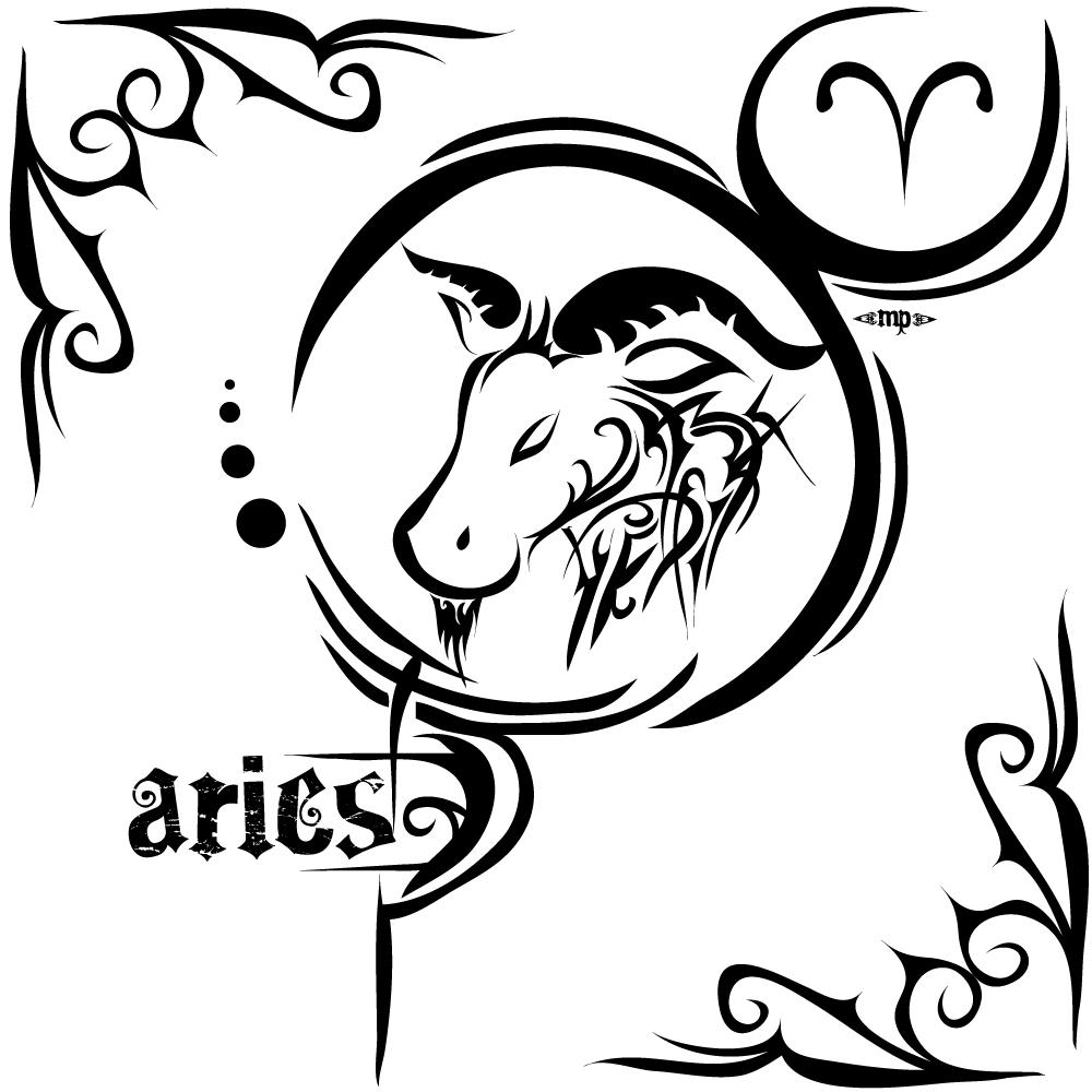 Aries Zodiac Sign Tattoos