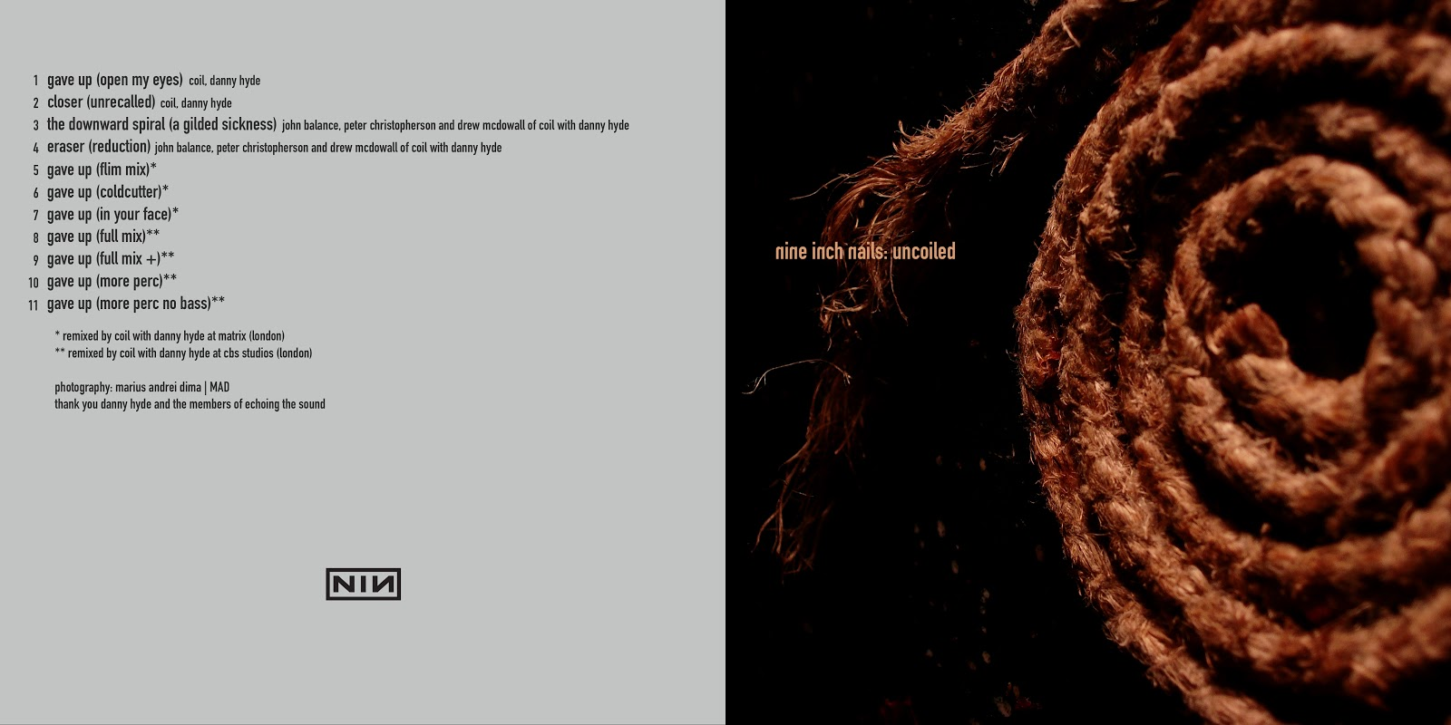 DARK CIRCLE ROOM: Nine Inch Nails - Uncoiled (Flac)