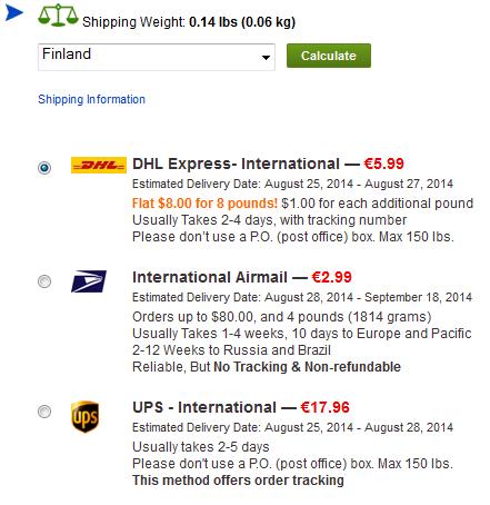 Euromääräiset rahdin ja tuotteiden hinnat uudella sivustolla