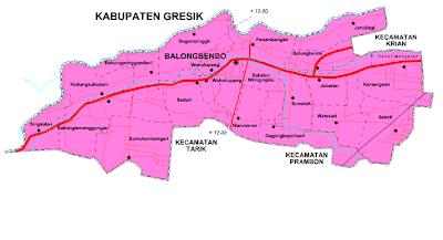 SEDOT WC SIDOARJO BALONGBENDO Peta Kecamatan