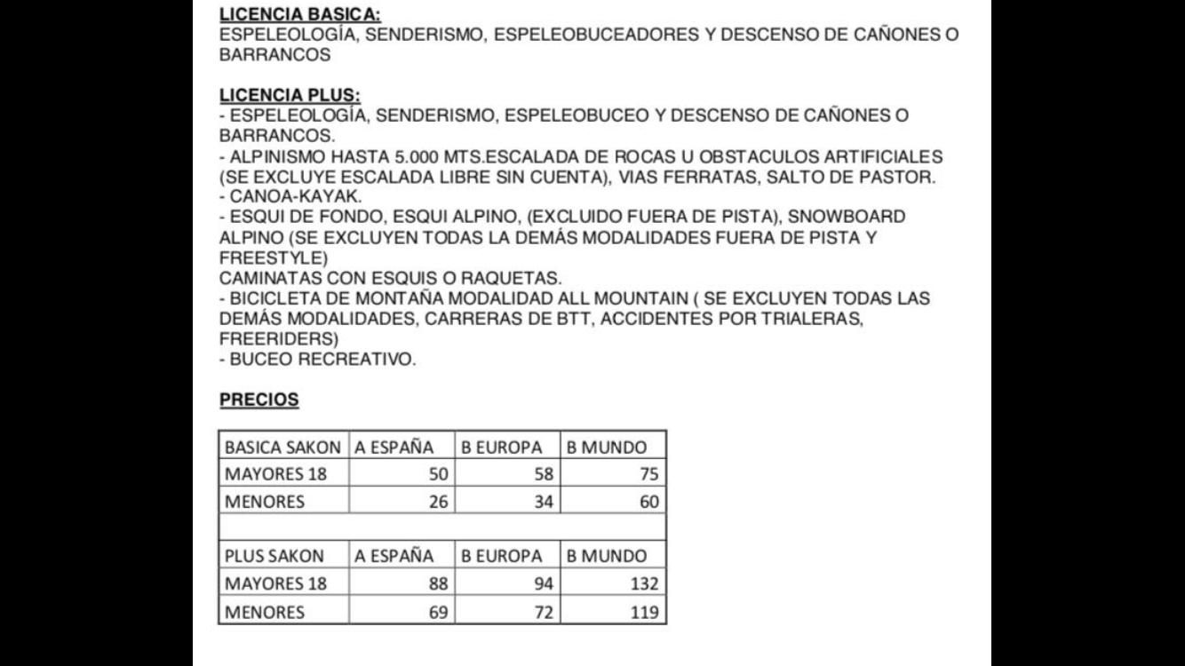 Licencias Federativas Sakon 2017