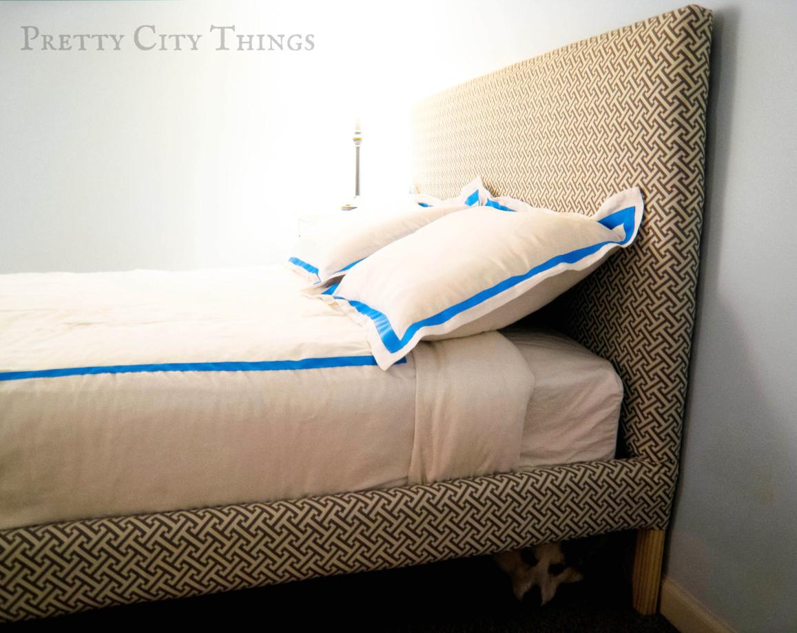Vintage  DIY Upholstered Bed