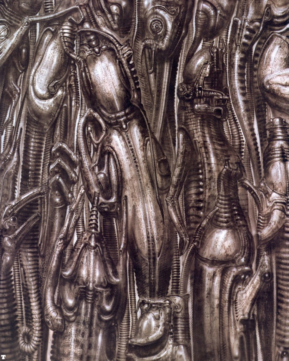 Solitary Dog Sculptor Cartoon Historieta H R Giger Alien