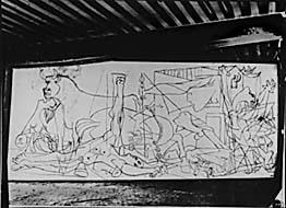 Creacion del Guernica, Picasso