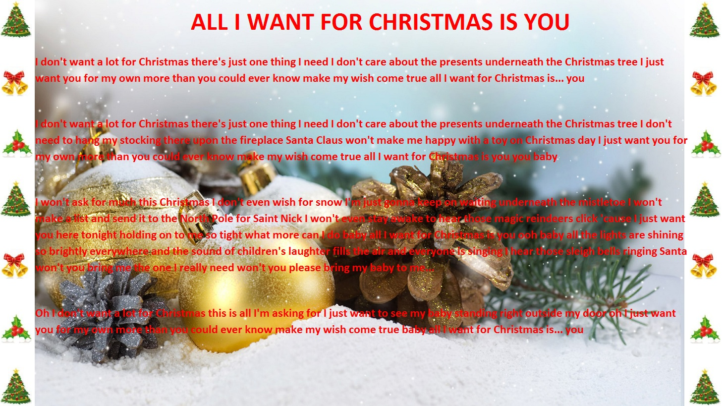 Aloe Blacc All I Want For Christmas Is You Lyrics
