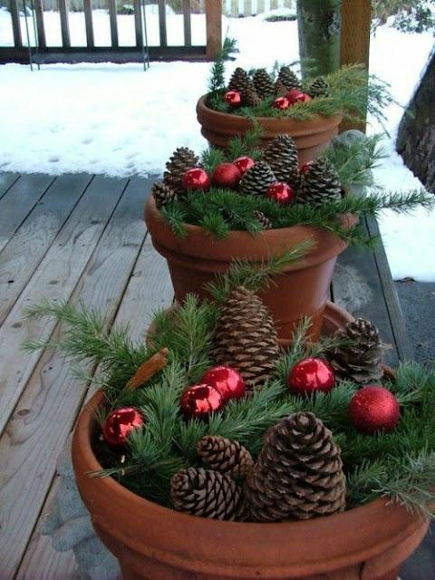 Decoração de natal, pinhas