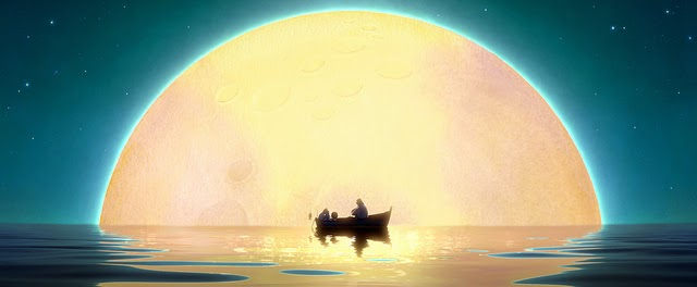 Pixar's La Luna, row boat and moon