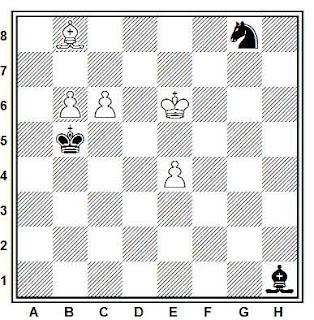 Problema ejercicio de ajedrez número 746: Estudio de José Mandil (Torneo de la SEPA, 1943)