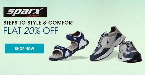 Shopclues : Sparx footwear flat 20% off