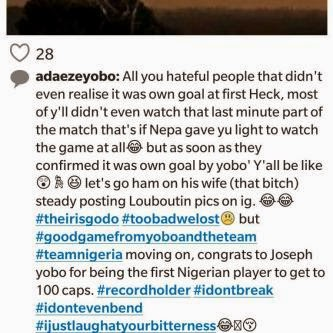 11 Adaeze Yobo Defends Her Husband's Performance At The World Cup