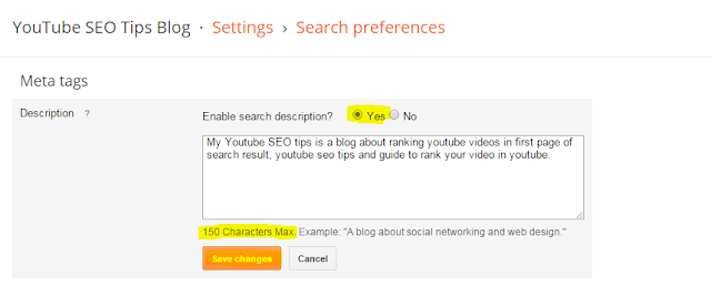 How to do On Page SEO For Blogger Blog - Meta Tags Settings.