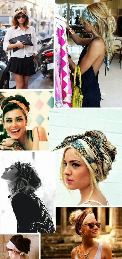 Stylish different ways to wear scarf on hairs